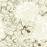 Floral seamless wallpaper. Universal template for greeting card, web page, background Stock Photos