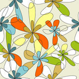 Floral seamless wallpaper Royalty Free Stock Photo