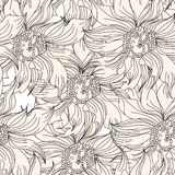 Floral seamless wallpaper Stock Photos