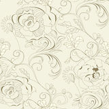 Floral seamless wallpaper. Universal template for greeting card, web page, background Royalty Free Stock Photo
