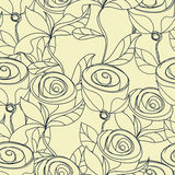 Floral seamless wallpaper. With rose flowers Royalty Free Stock Photos