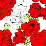 Floral seamless wallpaper stock illustration