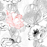 Floral seamless wallpaper. Universal template for greeting card, web page, background Royalty Free Stock Images