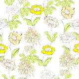 Floral seamless wallpaper Stock Images