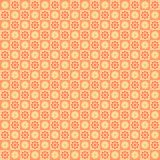 Seamless wallpaper with geometric flowers. Floral seamless wallpaper with absrtact flowers for scrapbooking, gifr paper Royalty Free Illustration