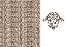Floral seamless wallpaper-brown Royalty Free Stock Photo