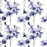 Floral seamless wallpaper vector illustration