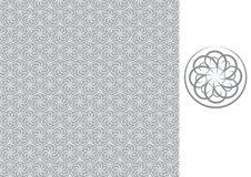 Floral seamless wallpaper-gray Stock Images