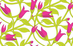 Floral Seamless Wallpaper Pattern. Seamless Wallpaper Tile - This pattern repeats on all sides. You can use it to fill your own custom shapes and backgrounds Stock Photography