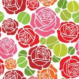 Floral seamless wallpaper pattern. Valentine seamless wallpaper pattern with rose design Stock Photos