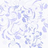 Floral seamless wallpaper pattern Stock Image
