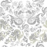 Floral seamless wallpaper pattern with vintage ornament Stock Photos