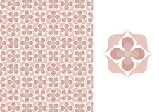 Floral seamless wallpaper-pink Stock Images