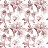Floral Seamless wallpaper Stock Photo