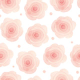 Floral seamless wallpaper in watercolor style. On white background Royalty Free Stock Image