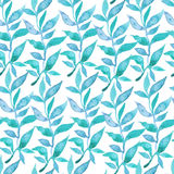 Floral seamless wallpaper in watercolor style. On white background Stock Photography