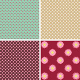 Floral seamless wallpapers Royalty Free Stock Photos