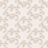 Floral seamless wallpapers in the style of Baroque Stock Image