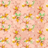 Floral seamless watercolor pattern. Floral seamless watercolor hand drawn pattern for design Royalty Free Stock Photos
