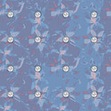 Floral seamless watercolor pattern Royalty Free Stock Images