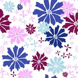 Floral seamless white pattern Stock Photography