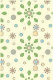 Floral seamless wrapping pattern Stock Images