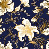 Floral seFloral seamless pattern. Abstract ornate flowers vintage texture.  Decorative ornamental textile, wallpaper, wrapping. vector illustration