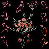 Floral set Stock Photography