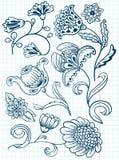 Floral set Stock Photo