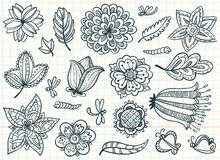 Floral set Stock Images