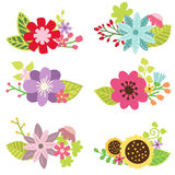 Floral set, flower design elements Stock Photography