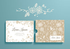 Floral set of romantic invitation and envelope Stock Photo