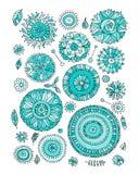 Floral set, sketch for your design Stock Photo