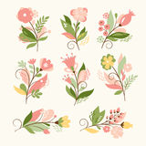 Floral set stock illustration