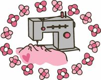 Floral Sewing Machine Royalty Free Stock Image