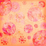 Floral Shabby Background Stock Photo