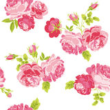 Floral Shabby Chic Background. Seamless Floral Shabby Chic Background - in vector Royalty Free Stock Image