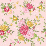 Floral Shabby Chic Background Stock Photography