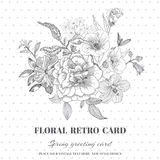 Floral Shabby Chic Card Royalty Free Stock Photo