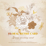 Floral Shabby Chic Card Royalty Free Stock Images