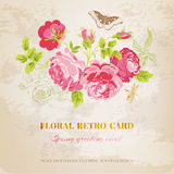 Floral Shabby Chic Card Stock Image