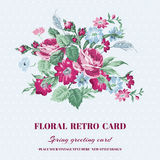 Floral Shabby Chic Card Stock Photos