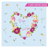 Floral Shabby Chic Graphic Design Royalty Free Stock Image