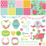 Floral Shabby Chic Theme royalty free illustration