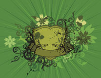 Floral shield background Stock Image