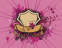 Floral shield background Stock Photography
