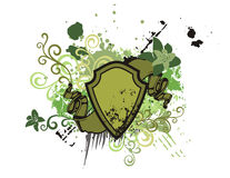 Floral shield background Stock Images