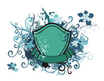 Floral shield background Royalty Free Stock Image