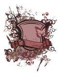 Floral shield background Stock Illustration
