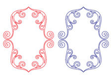 Floral shield frames. Design in white background Stock Photos